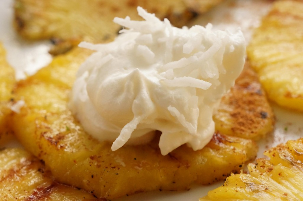 Grilled Pineapple with Coconut Cream