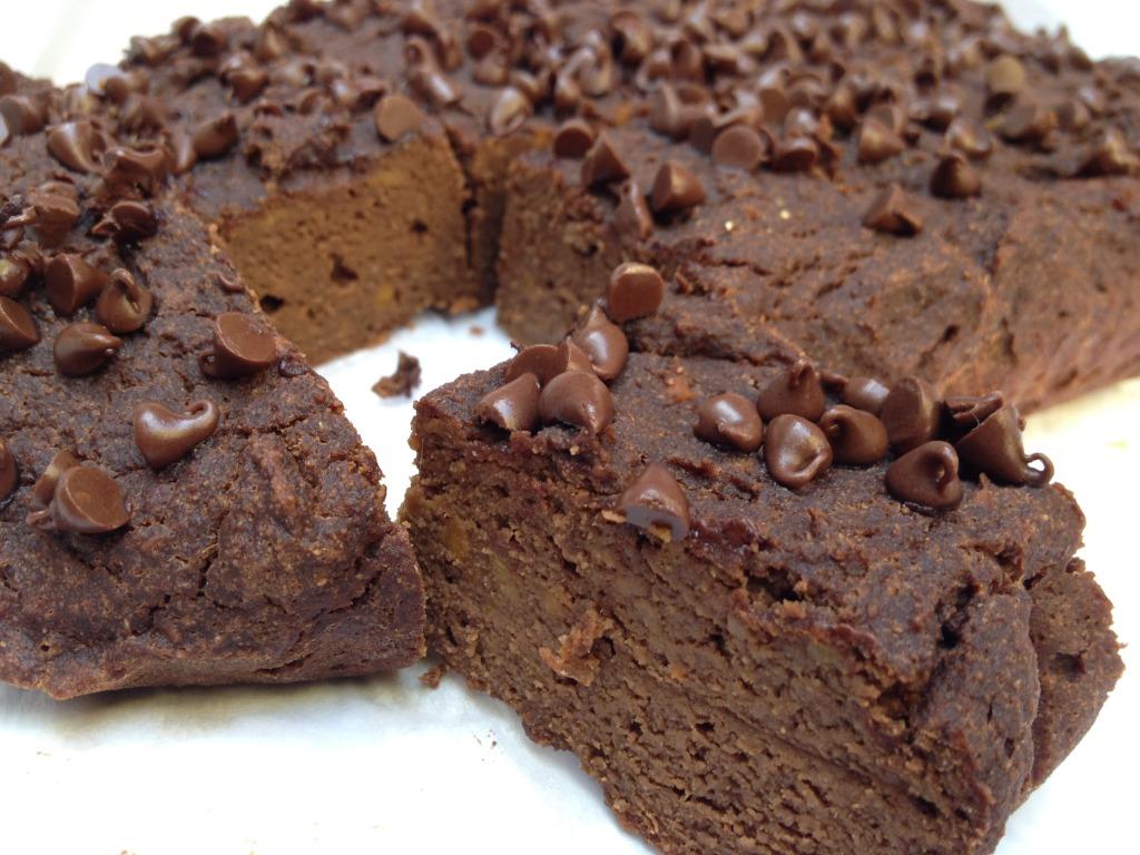 Healthy Santa Cap Brownies